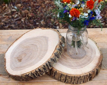 Thick Wood Slices, Cake Stand, Wedding Centerpieces, Natural Wood Slices, Wood Slabs, 3 to 16 Wood Rounds