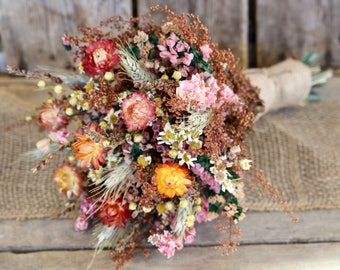 Fall wedding bouquet etsy fall flower bouquet rustic wedding bouquet bridal bouquet bridesmaid bouquet fall wedding bouquet dried flower bouquet junglespirit