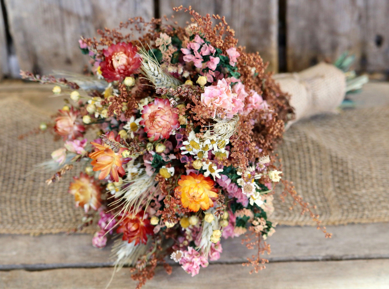Fall Flower Bouquet Rustic Wedding Bouquet Bridal Bouquet Etsy