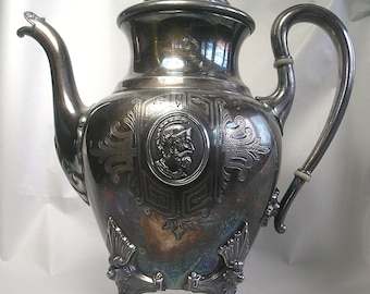A Reed and Barton Silverplate Engraved Teapot Z62