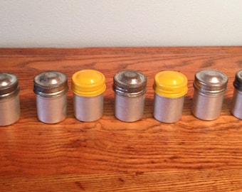 Vintage Flim Aluminum Canisters lot of 7