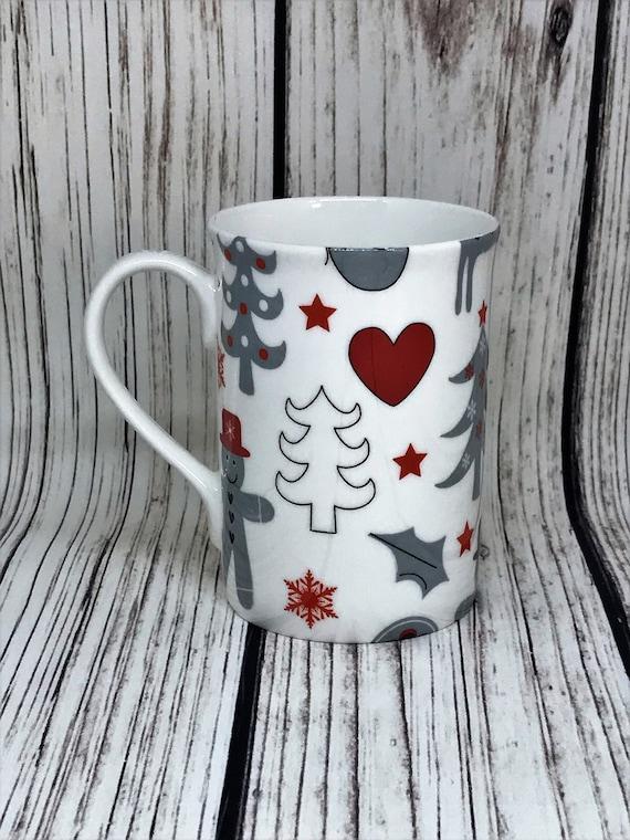 Personalised Christmas Mug BN Boxed Christmas Gingerbread Fine Bone China Mug
