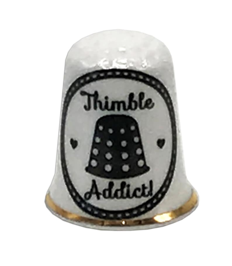 Perfect Gift Thimble Collector BN Personalised Fine Bone China Thimble Addict Thimble