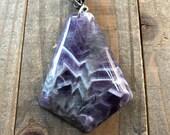 Amethyst Pendant Amethyst Necklace Purple Necklace Gemstone Pendant Amethyst Jewelry Handmade Amethyst Pendant
