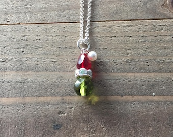 Grinch necklace , Christmas necklace , how the Grinch stole Christmas, grinch jewelry. Holiday necklace, Dr Seus