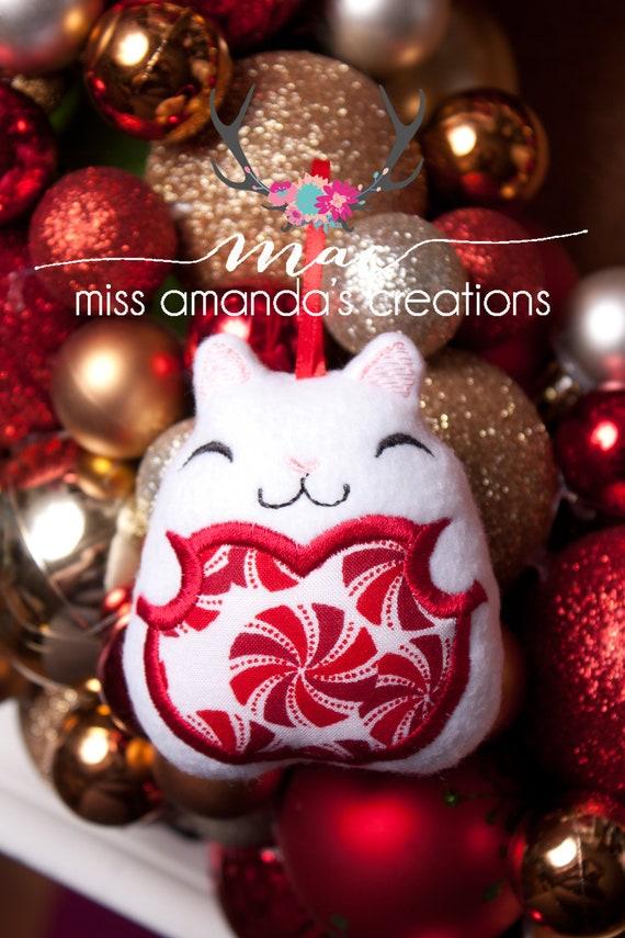 Kitty Christmas Ornament | Etsy