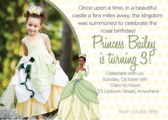 Diy princess tiana birthday invitation etsy image 0 filmwisefo