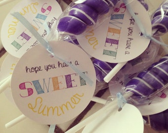 DIY printable Have a Sweet Summer Tags