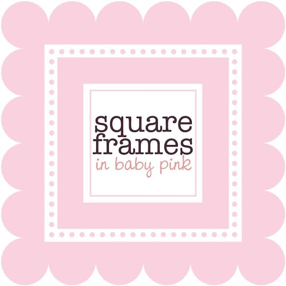 cb18341a6 Clip Art Digital Square Frames in Baby Pink