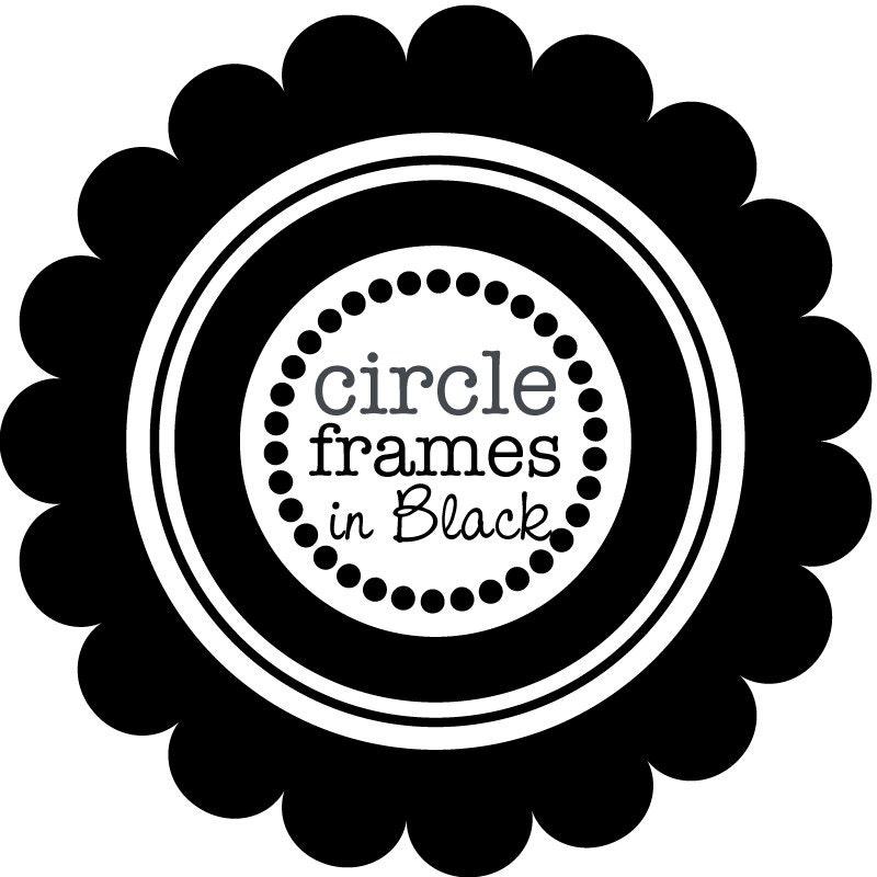 Digital Clip Art Circle Frames in Pure Black   Etsy