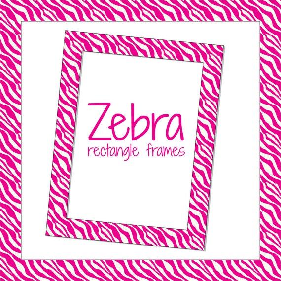 Rectangle Frames in Pink Zebra Pattern Digital Frames   Etsy