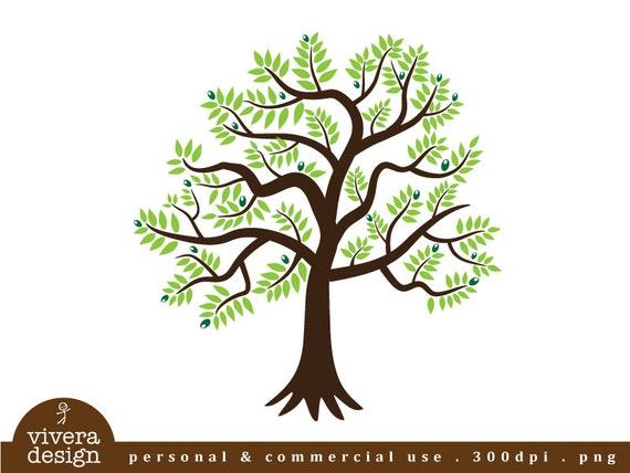 Olive Tree Digital Clipart Etsy