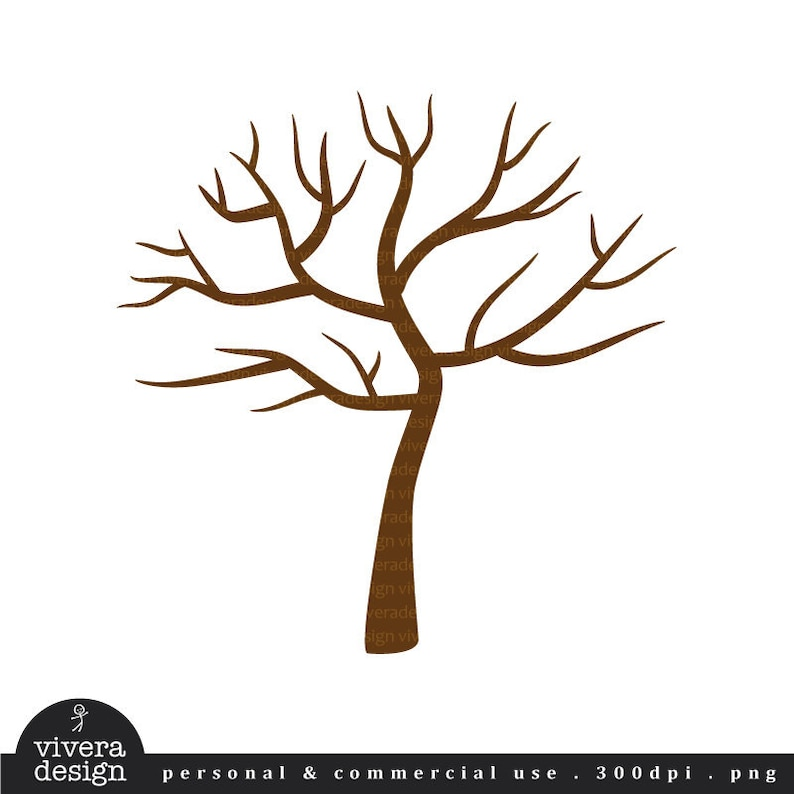 image relating to Printable Tree named Printable PDF - Tree with No Leaves - Winter season Tree - best for thumb-print tree