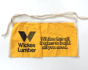 Wicked Lumber Yellow Canvas Apron
