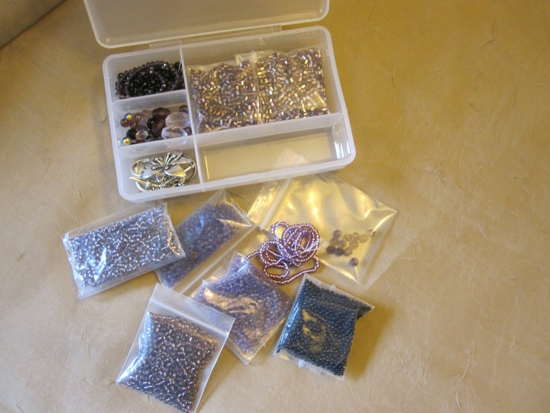 bead kit crystal rondelles and seed beads