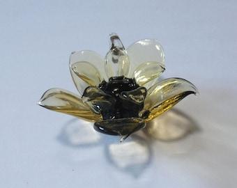 Autumn Flower - LARGE Glass Flower Pendant
