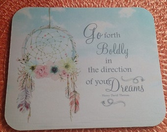 Dream Catcher Quotes   She Stood In The Storm Quote Mouse Pad She Adjusted Her Etsy