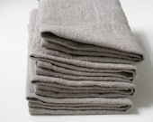 Organic Linen Napkin Set. Natural Linen. Sustainable. Modern. Zero Waste