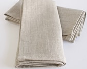 Classic Linen Napkins. Set of 4. Eight Color Choices.Natural Linen. Sustainable. Modern. Zero Waste
