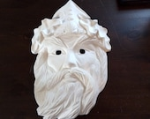King Neptune Face Mask Eyes Cut Out Ready to Paint Ceramics Poured by CrazyOldLadyJC