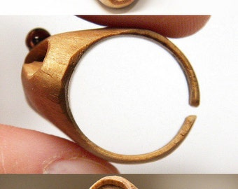 ON VACATION, Hand Carved Wooden Ring Statement Ring Infinity Moon Ring Eco Friendly Ring Art Jewelry Natural modern