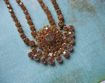 JUST REDUCED Exotic Austrian Crystal Medallion Necklace