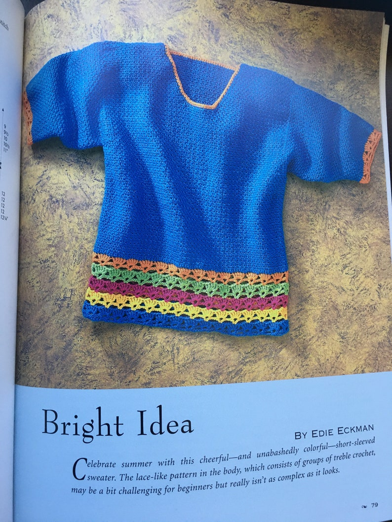 Crocheted Sweaters Simple Stitches Great Designs Book New