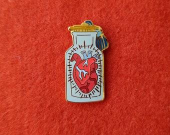 Health Potion Hard Enamel Pin - Heart Pin, Heart, Nintendo, Xbox, PS, Retro pin,  cloisonne - Lapel Pin, D&D Jar Apothecary pins