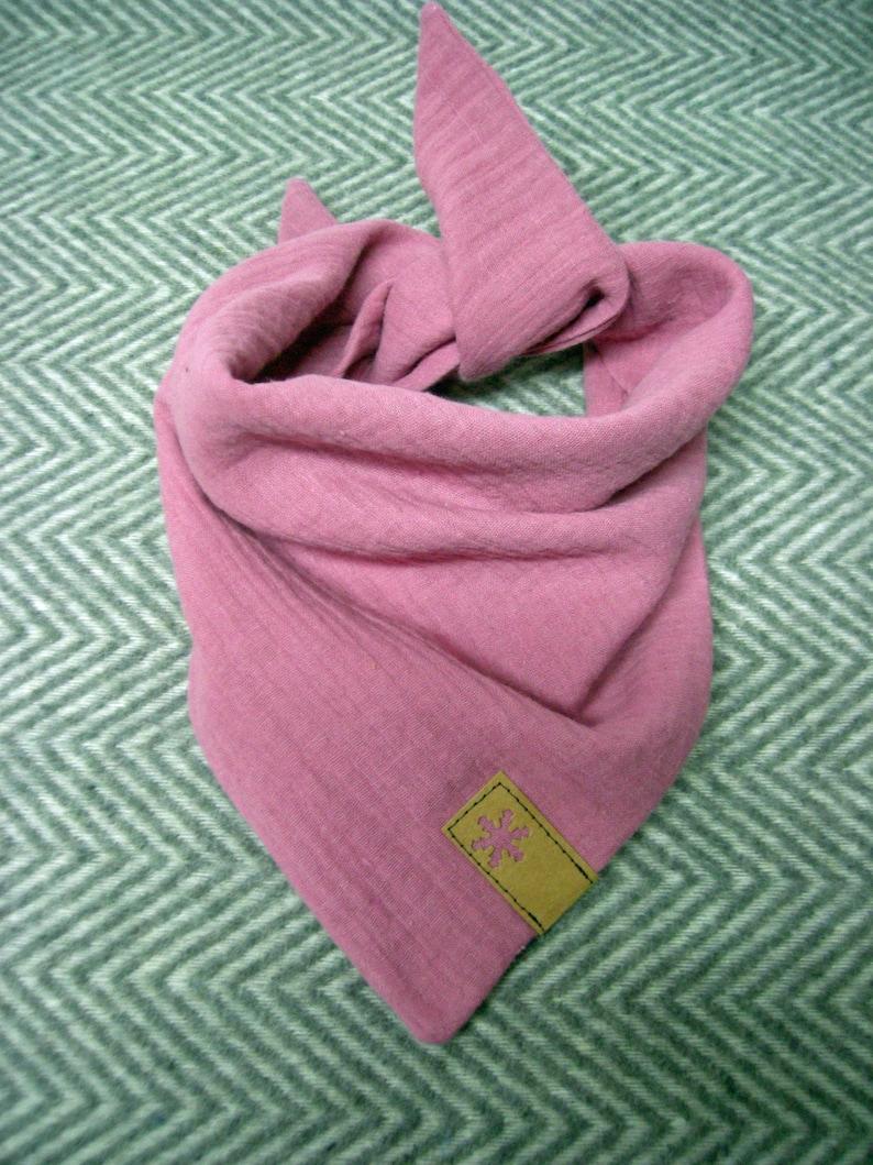 Muslin intuit old pink  neckerchief  triangular  muslin image 0
