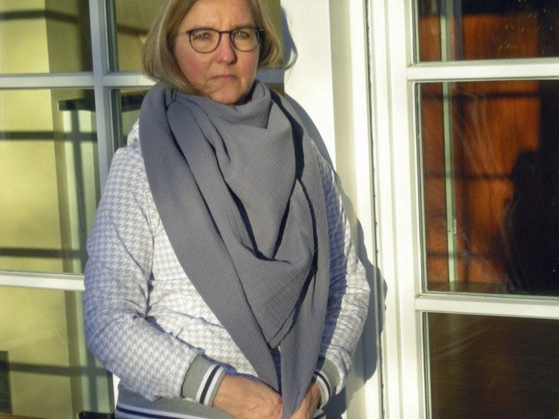 Muslin intuit for women in grey  triangle  neckerchief  image 0