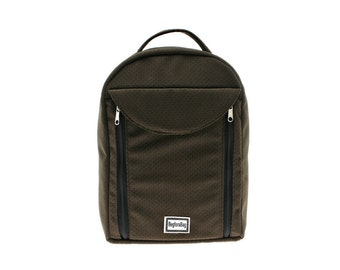Sling Messenger Bag, Padded Backpack,  Netbook iPad Bag - Kimmie, Brown,Vegan, Shaved Velvet,