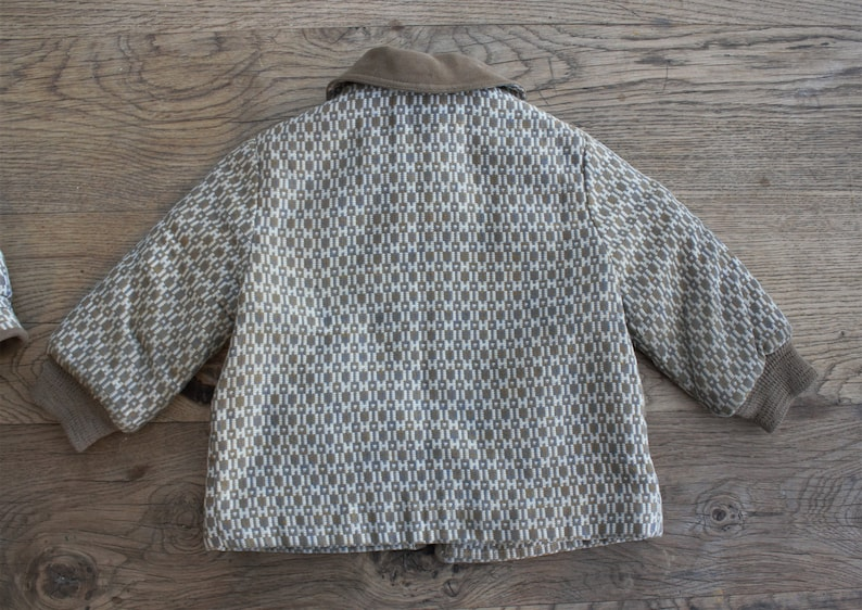 Sweet 1950s Vintage Snoveralls Kute Kiddies Child/'s Coat Hat and Leather Mittens