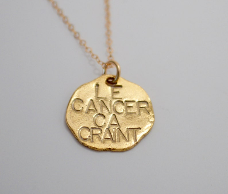 Le Cancer Ca Craint Necklace Valerie French FUCK CANCER necklace