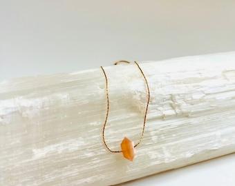 Peach Moonstone Necklace, Fertility Necklace, Moonstone Choker, Pregnancy Necklace, Divine Feminine Necklace