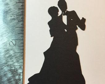 Bride /& Groom die cut shapes Wedding Marriage