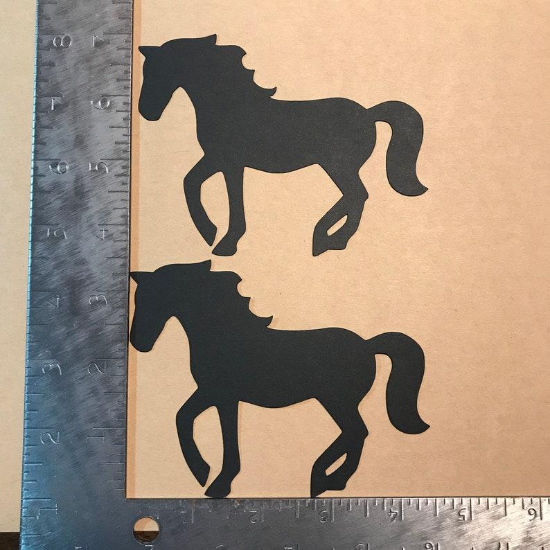 2 black Fancy Horse Die Cuts image 0