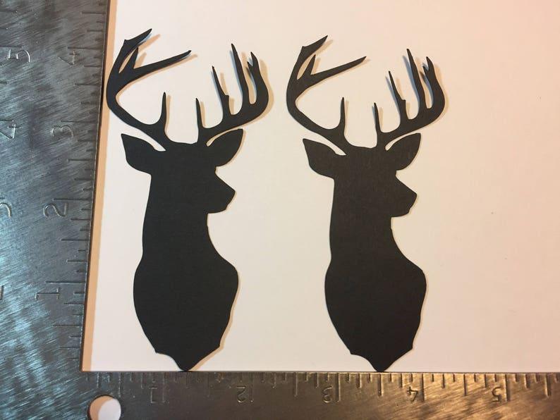 2 Mounted Deer Head die cuts image 0