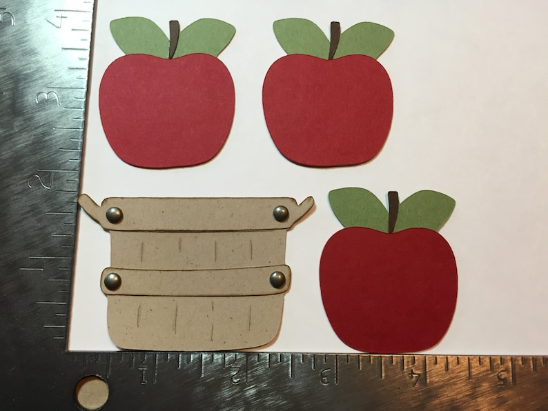 Apple and basket die cuts image 0