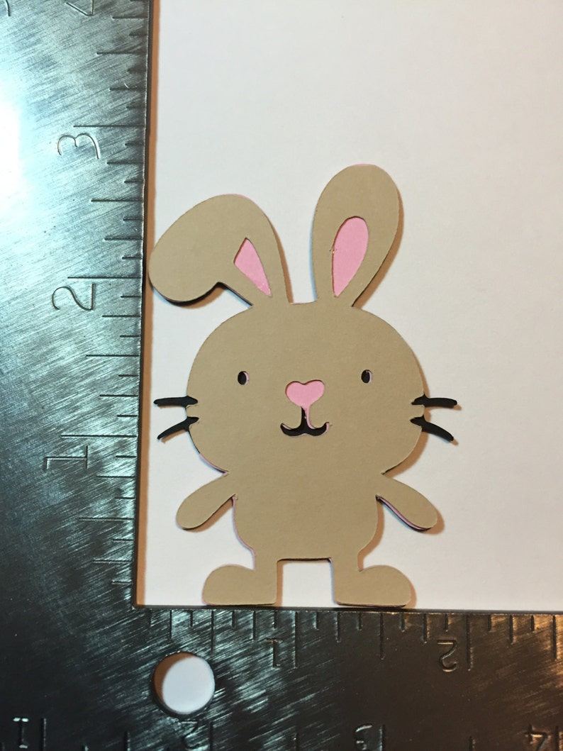 Brown bunny die cut image 0