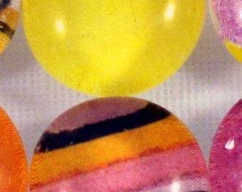 Citrus Sensations - Glass Marble (Refrigerator) Magnets