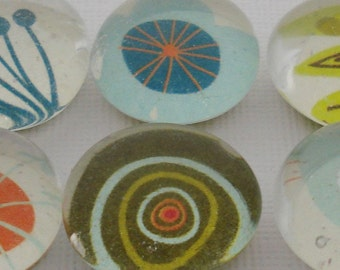 Sea Creatures - Glass Marble (Refrigerator) Magnets