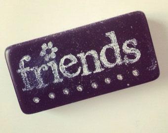 Altered Art Domino Magnet -- Friends