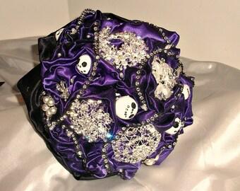 Redblack Gray Brooch Wedding Bouquet Brooch Bridal Bouquet Etsy