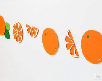 Orange Garland : Handcrafted Citrus Party Decoration | Brunch Decoration | Orange Slice Banner | Florida Orange | Breakfast | Citrus Garland