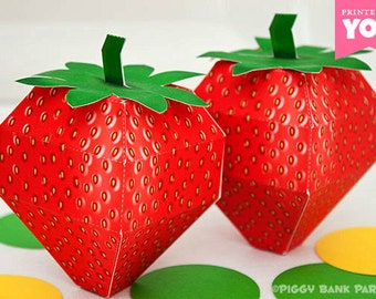 Strawberry Shortcake Berries Party Favor Box Berry