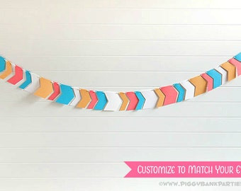 Tribal Arrow Garland : Handcrafted Chevron Bunting | Birthday Party Decoration | Wedding | Bridal Shower | Baby Shower | Customize the Color