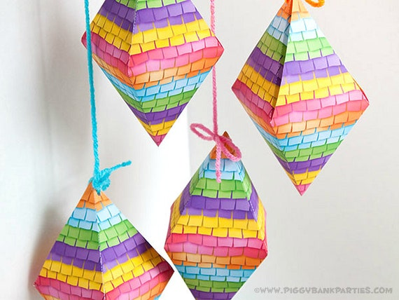 PINATA Favor Box : DIY Printable PDF | Cinco de Mayo Favor
