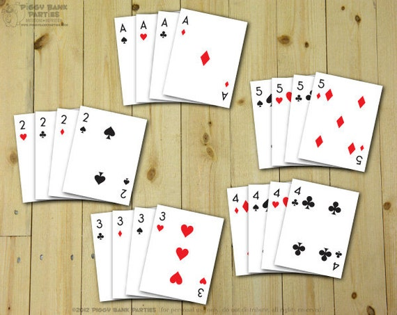 photo relating to Printable Playing Cards Pdf referred to as Actively playing Playing cards Paper (Ace - 10 just) : Do it yourself Printable Deck of