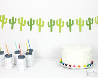 Cactus Garland Kit : U-String Cacti Bunting | Fiesta | Succulent Room Decoration | Cinco de Mayo Party Decoration | Photo Booth Decoration