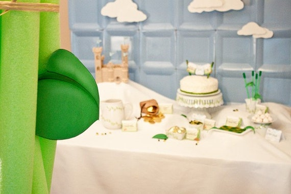 personalised any name and age Jack and the beanstalk birthday cake topper